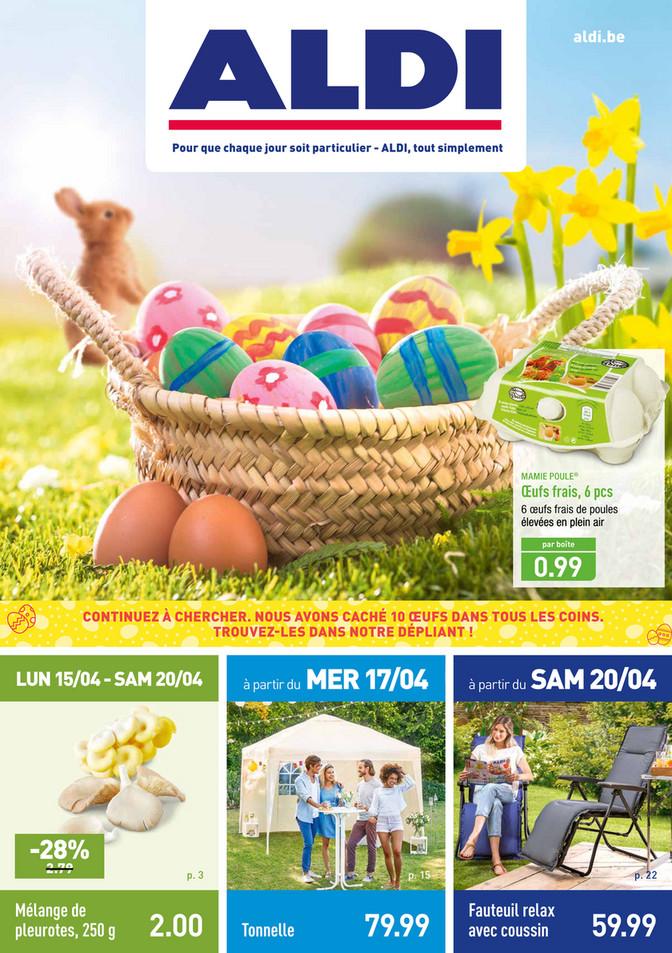 Folder Aldi du 15/04/2019 au 20/04/2019 - Promotions de la semaine 16