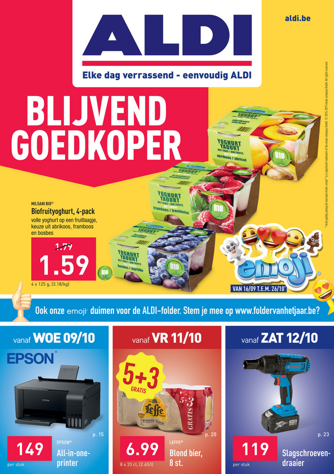 Aldi folder van 07/10/2019 tot 12/10/2019 - Weekpromoties 41