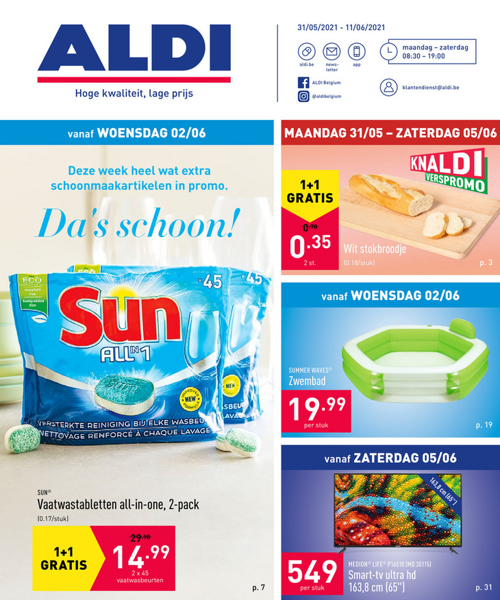 Aldi folder van 31/05/2021 tot 11/06/2021 - Weekpromoties 22