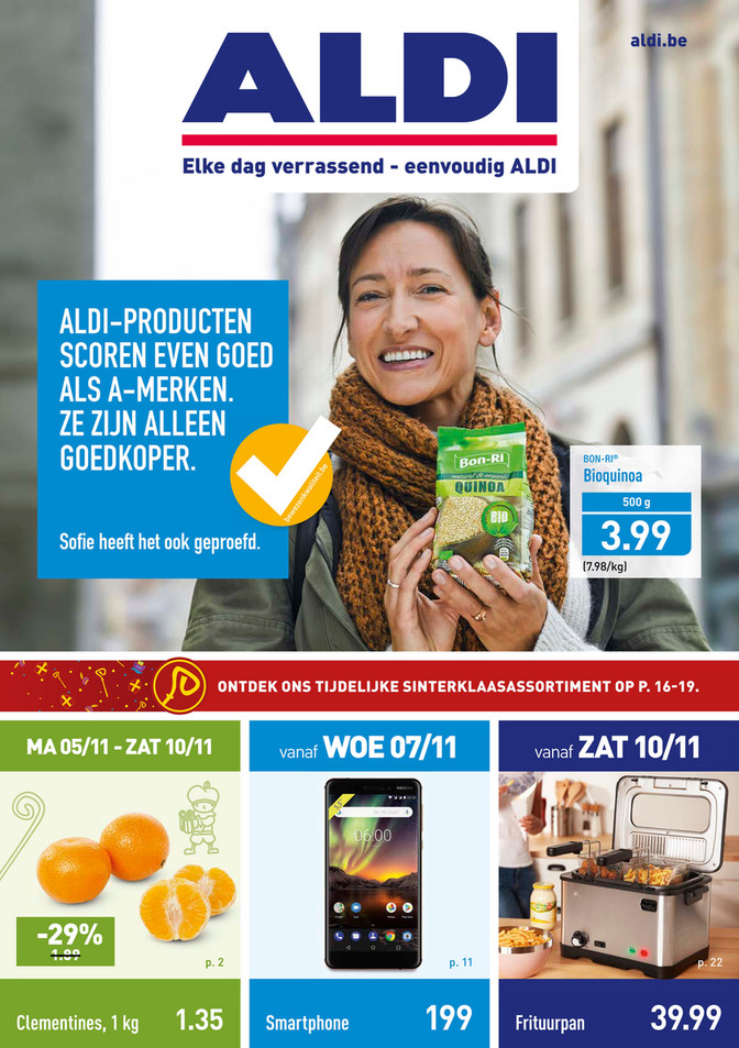 Aldi folder van 05/11/2018 tot 10/11/2018 - Weekpromoties 45