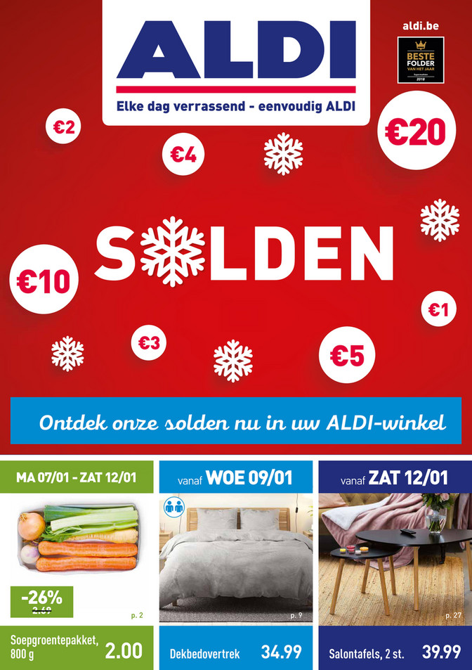 Aldi folder van 07/01/2019 tot 12/01/2019 - Weekpromoties 2