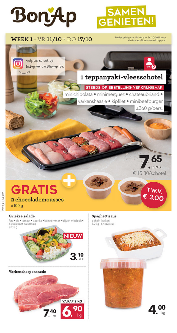 Bon'Ap folder van 11/10/2019 tot 24/10/2019 - weekpromoties 41
