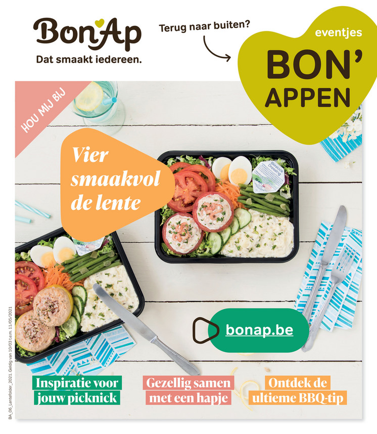 Bon'Ap folder van 02/03/2021 tot 11/05/2021 - Lentefolder
