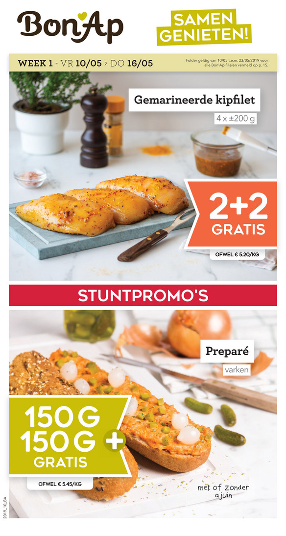Bon'Ap folder van 10/05/2019 tot 23/05/2019 - weekpromoties 20