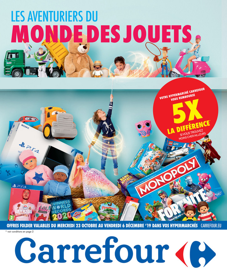 Folder Carrefour du 23/10/2019 au 06/12/2019 - Promotions de la semaine 43 bis