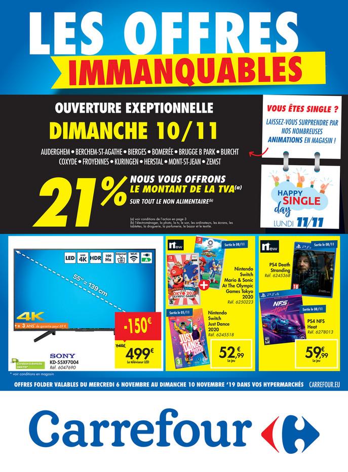 Folder Carrefour du 06/11/2019 au 10/11/2019 - Promotions de la semaine 45 Singleday