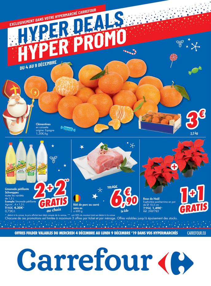 Folder Carrefour du 04/12/2019 au 09/12/2019 - Hyper deals