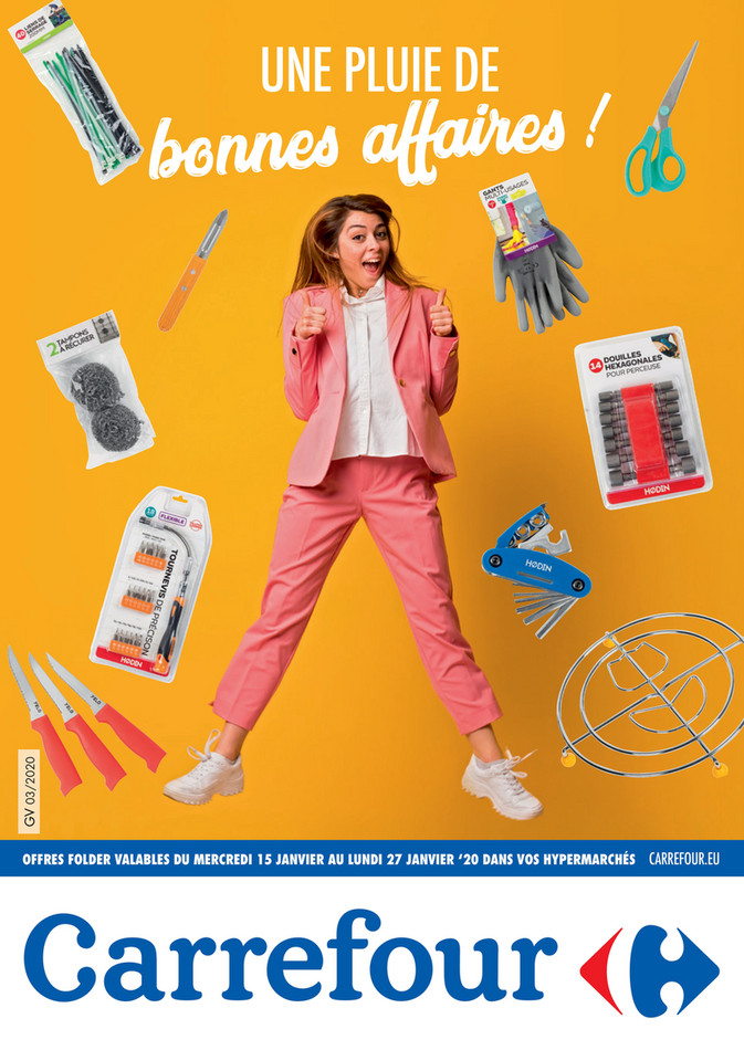 Folder Carrefour du 15/01/2020 au 27/01/2020 - Folder Focus bazar semaine 3