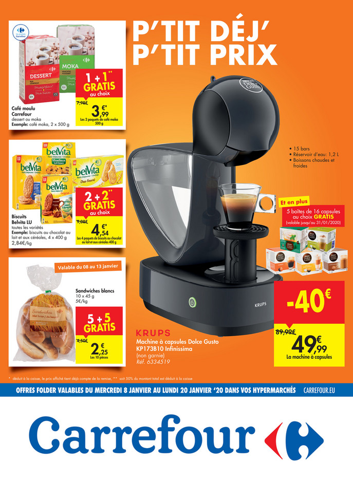 Folder Carrefour du 08/01/2020 au 20/01/2020 - Promotions de la semaine 2