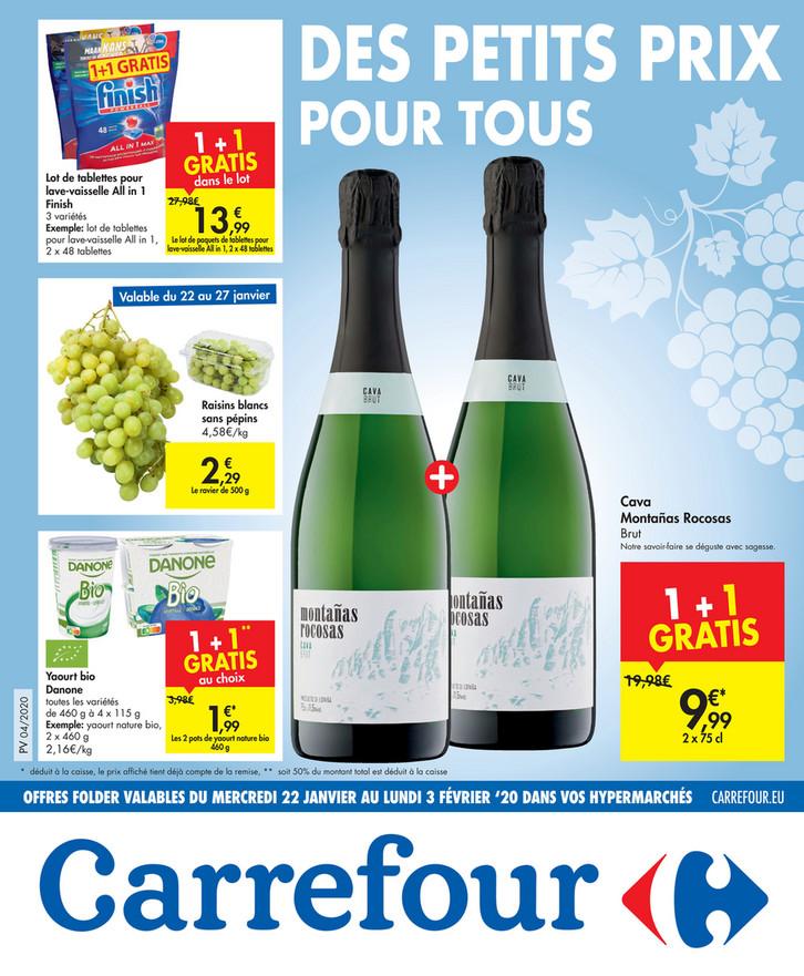 Folder Carrefour du 22/01/2020 au 03/02/2020 - Promotions de la semaine 04