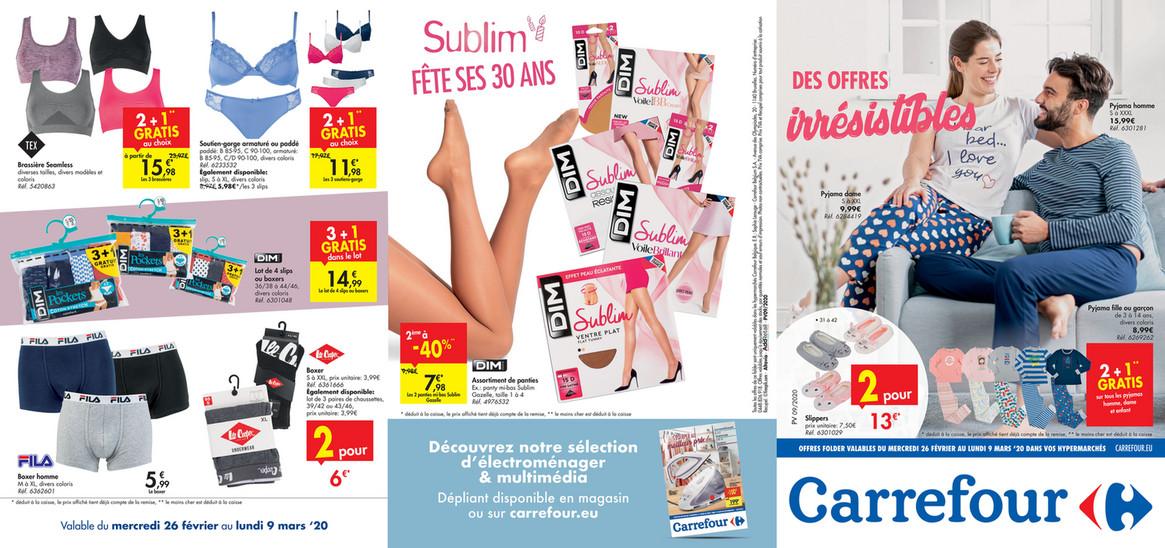 Promotions vêtement Carrefour semaine 10