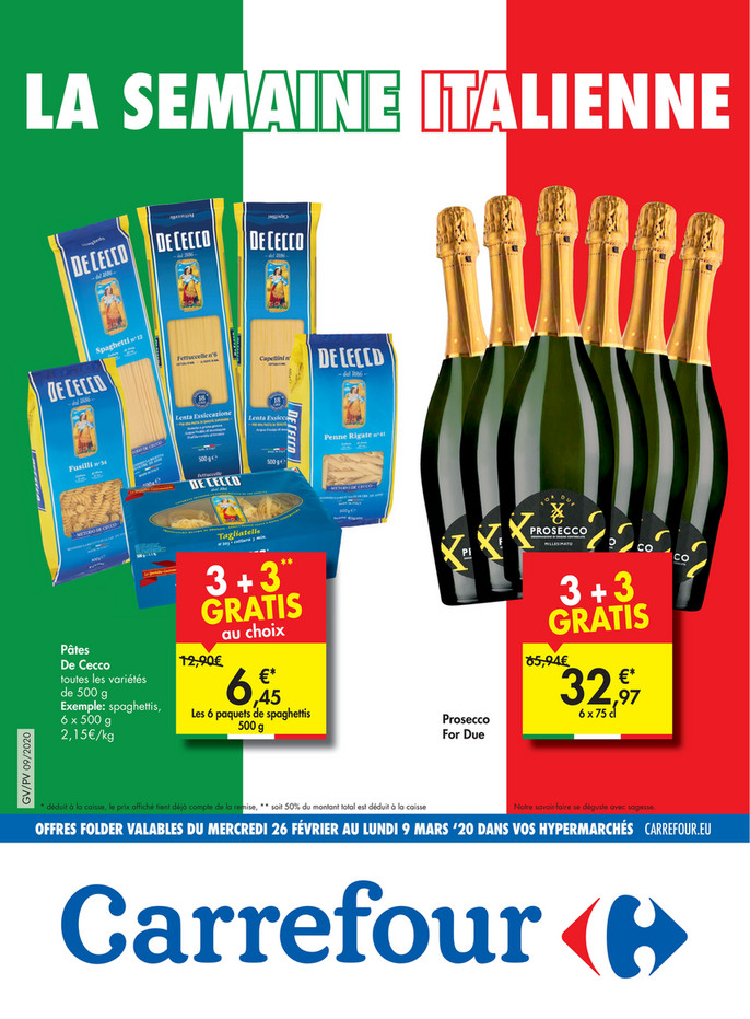 Promotions semaine italienne 10