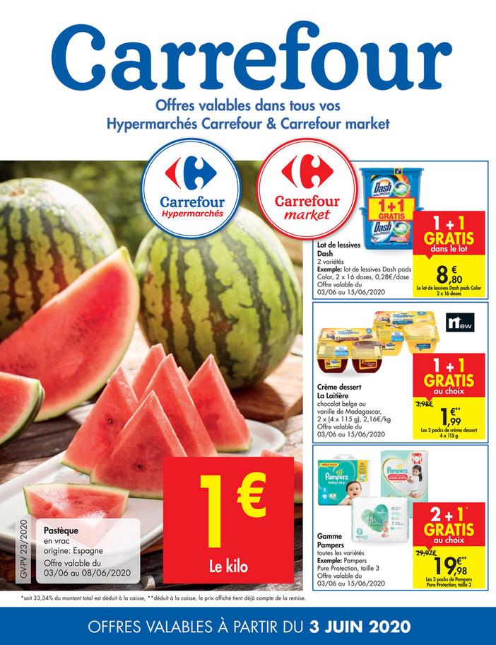 Folder Carrefour du 03/06/2020 au 08/06/2020 - Promotions de la semaine 23