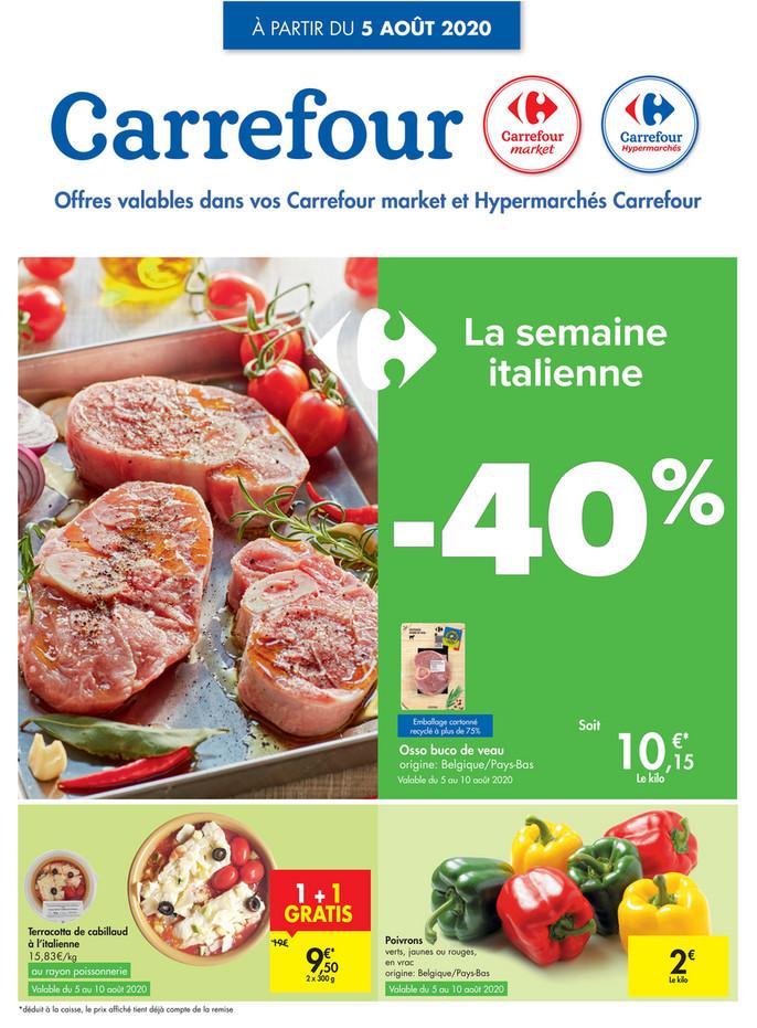 Folder Carrefour du 05/08/2020 au 10/08/2020 - Promotions de la semaine 32