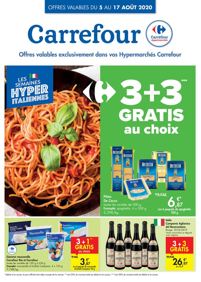 Folder Carrefour du 05/08/2020 au 17/08/2020 - Promotions de la semaine 32a
