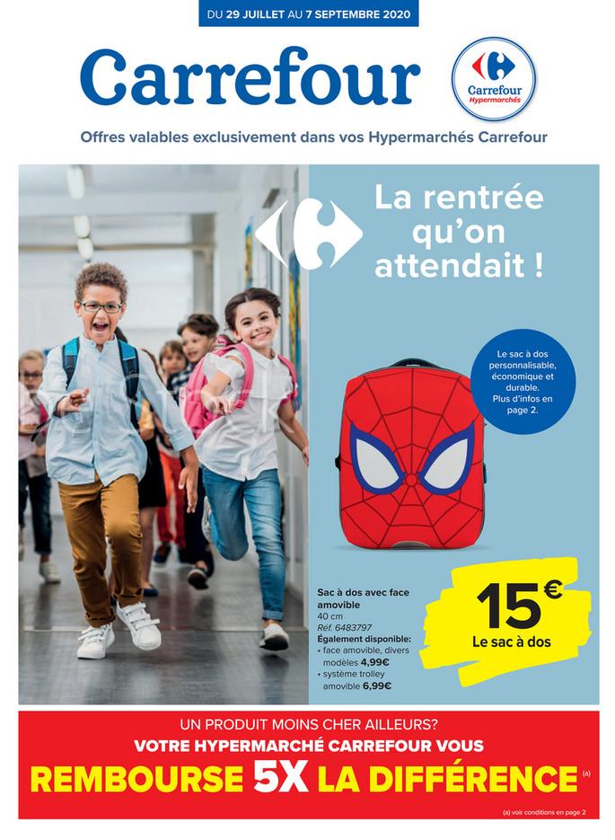 Folder Carrefour du 31/07/2020 au 07/09/2020 - Back to school FR