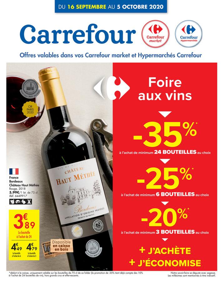 Folder Carrefour du 16/09/2020 au 05/10/2020 - Promotions de la semaine 37a