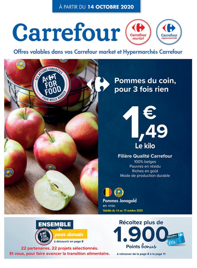 Folder Carrefour du 14/10/2020 au 19/10/2020 - Promotions de la semaine 42