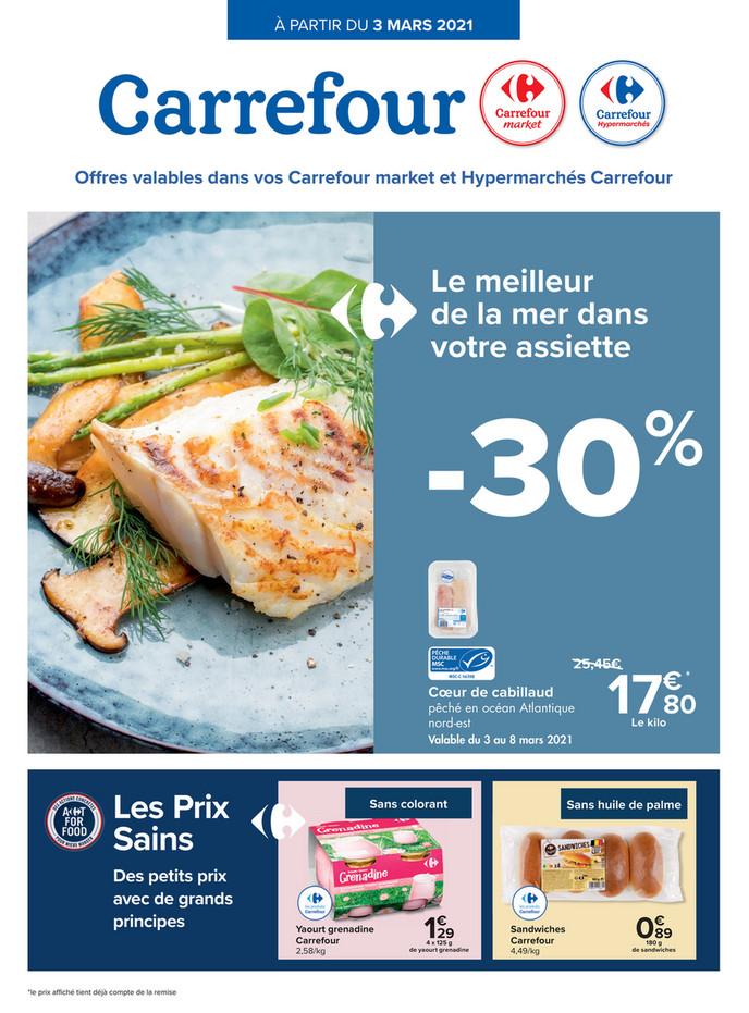 Folder Carrefour du 03/03/2021 au 08/03/2021 - Promotions de la semaine 9