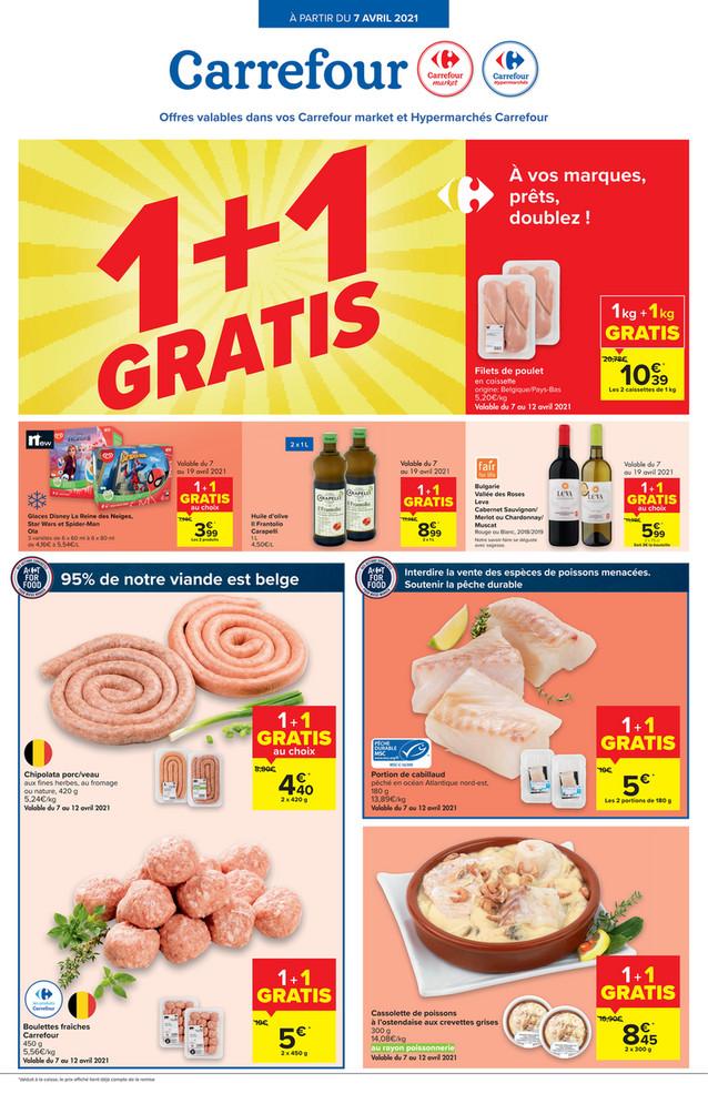 Folder Carrefour du 07/04/2021 au 19/04/2021 - Promotions de la semaine 14 - tete