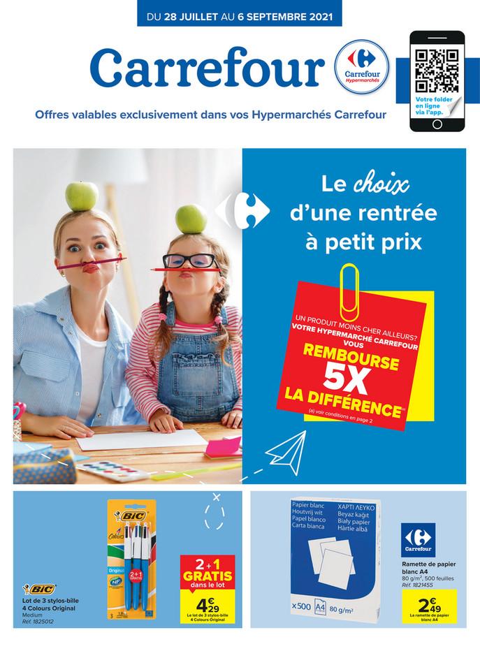 Folder Carrefour du 28/07/2021 au 06/09/2021 - Promotions du mois juillet-sept