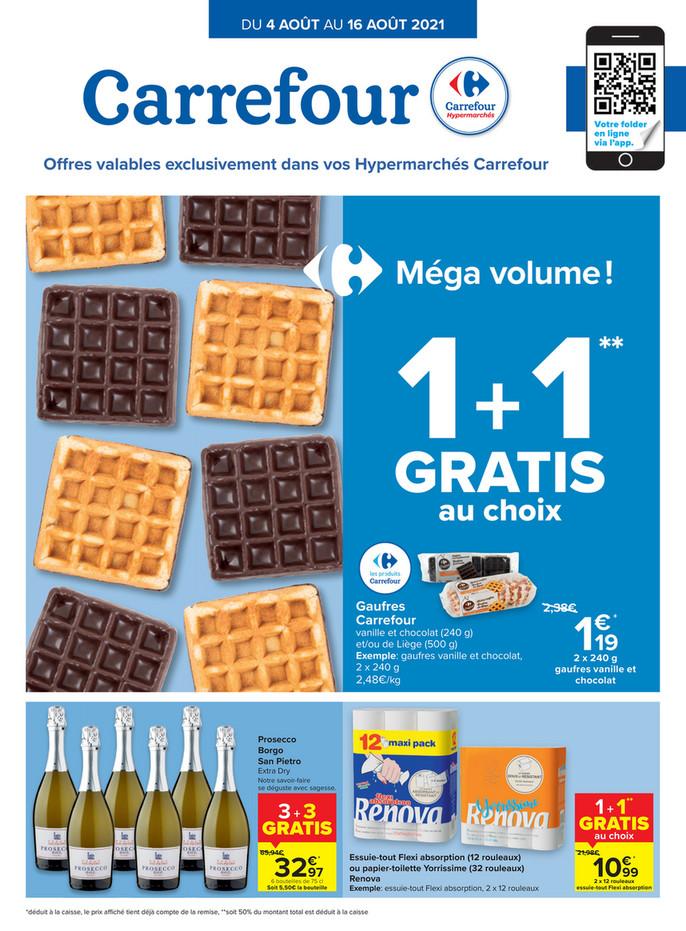Folder Carrefour du 04/08/2021 au 16/08/2021 - Promotions de la semaine 31
