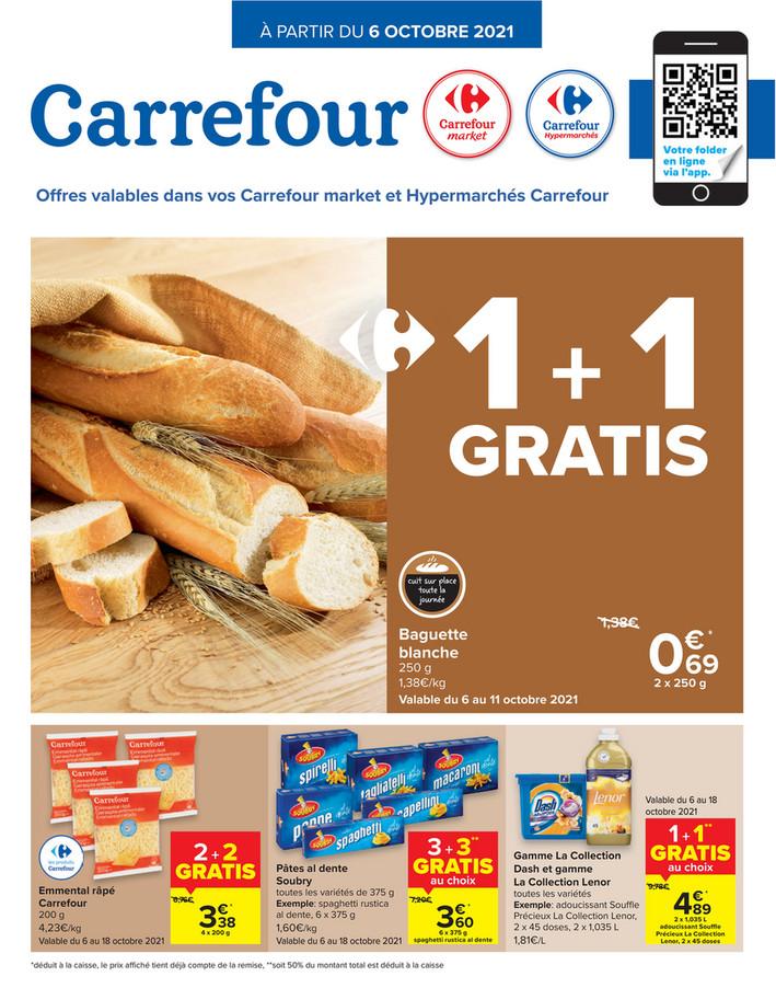 Folder Carrefour Hypermarché  du 06/10/2021 au 18/10/2021 - Promotions de la semaine 40