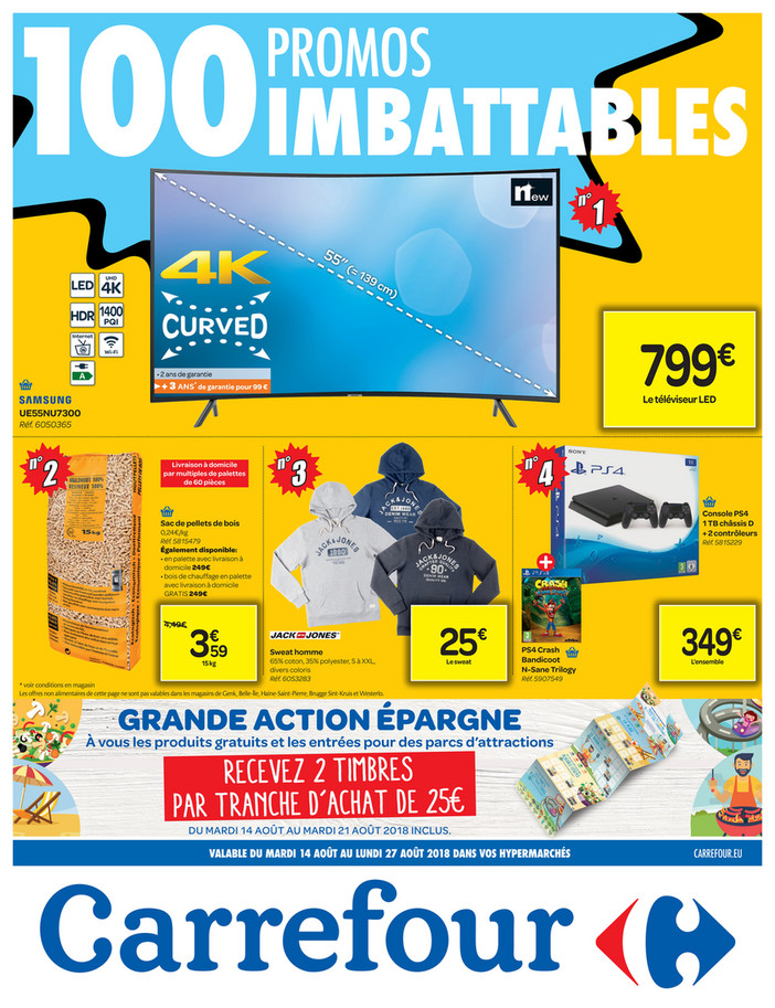 Folder Carrefour du 14/08/2018 au 27/08/2018 - Imbattables