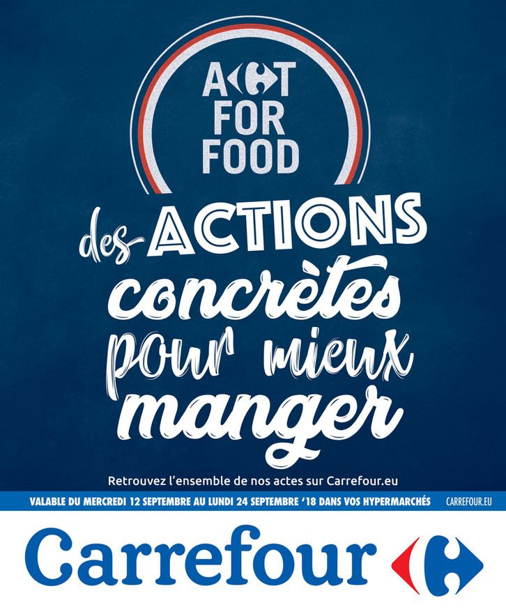 Folder Carrefour du 12/09/2018 au 24/09/2018 - Actions concrètes