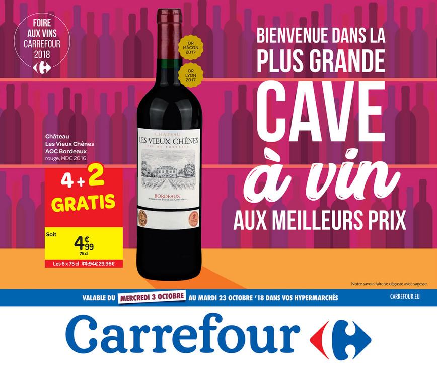 Folder Carrefour du 26/09/2018 au 23/10/2018 - Cave à  vin