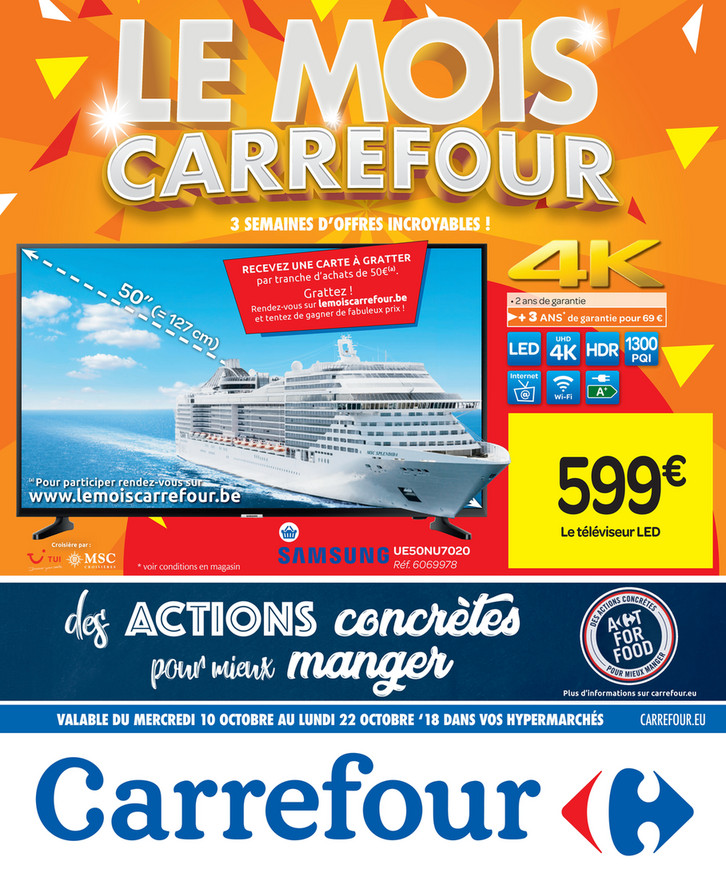 Folder Carrefour du 10/10/2018 au 22/10/2018 - Promotions de la semaine 41