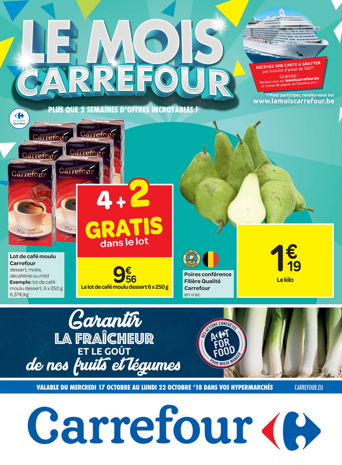 Folder Carrefour du 17/10/2018 au 22/10/2018 - Promotions de la semaine 42