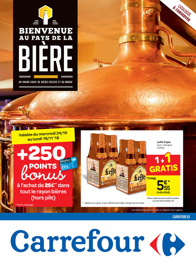 Folder Carrefour du 24/10/2018 au 19/11/2018 - Promotion de bières