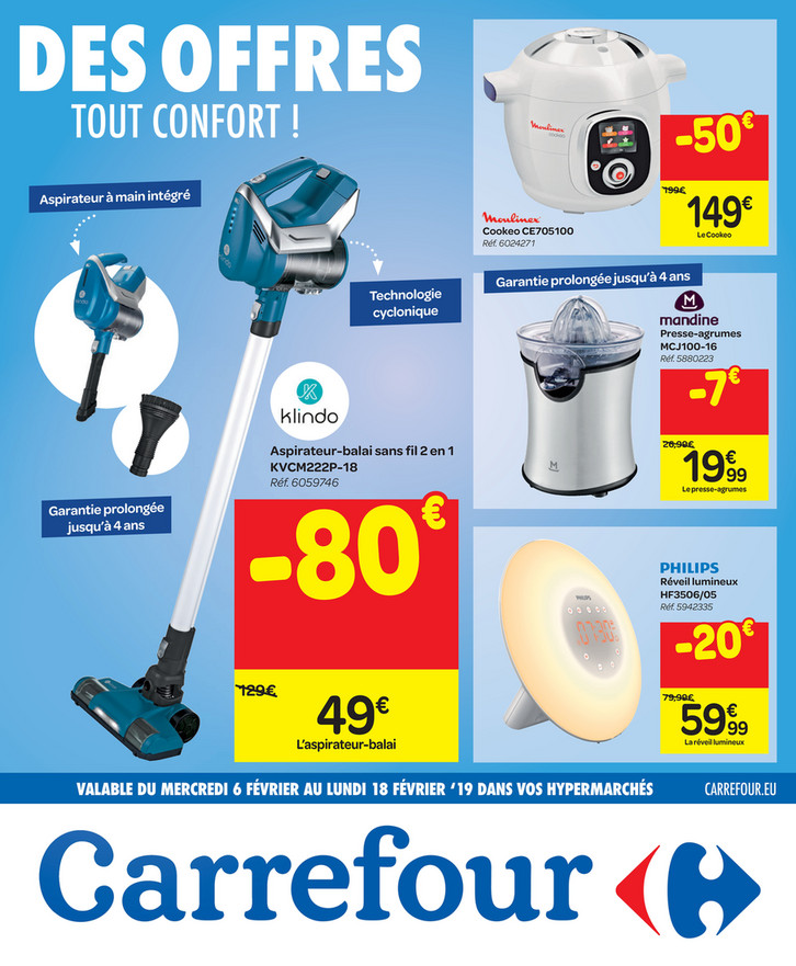 Folder Carrefour du 06/02/2019 au 18/02/2019 - Promotions de la semaine 6