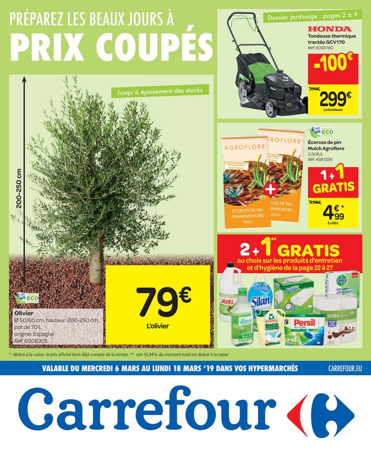 Folder Carrefour du 06/03/2019 au 18/03/2019 - Prix coupé