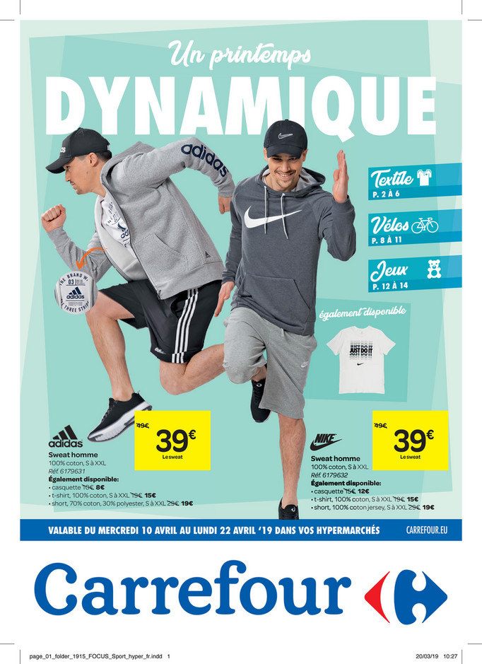 Folder Carrefour du 10/04/2019 au 22/04/2019 - Promotions de la semaine 15b