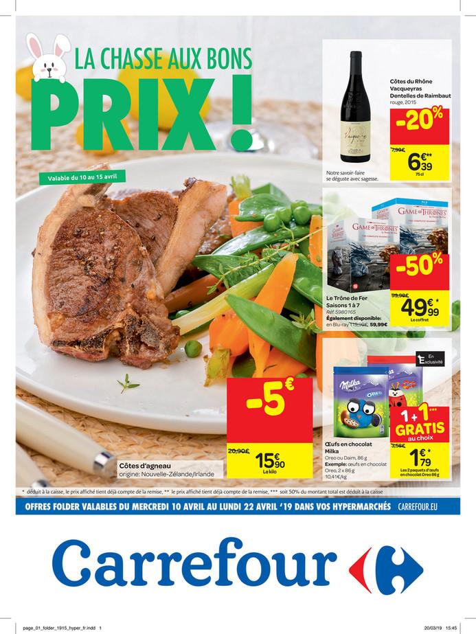 Folder Carrefour du 10/04/2019 au 22/04/2019 - Promotions de la semaine 15c