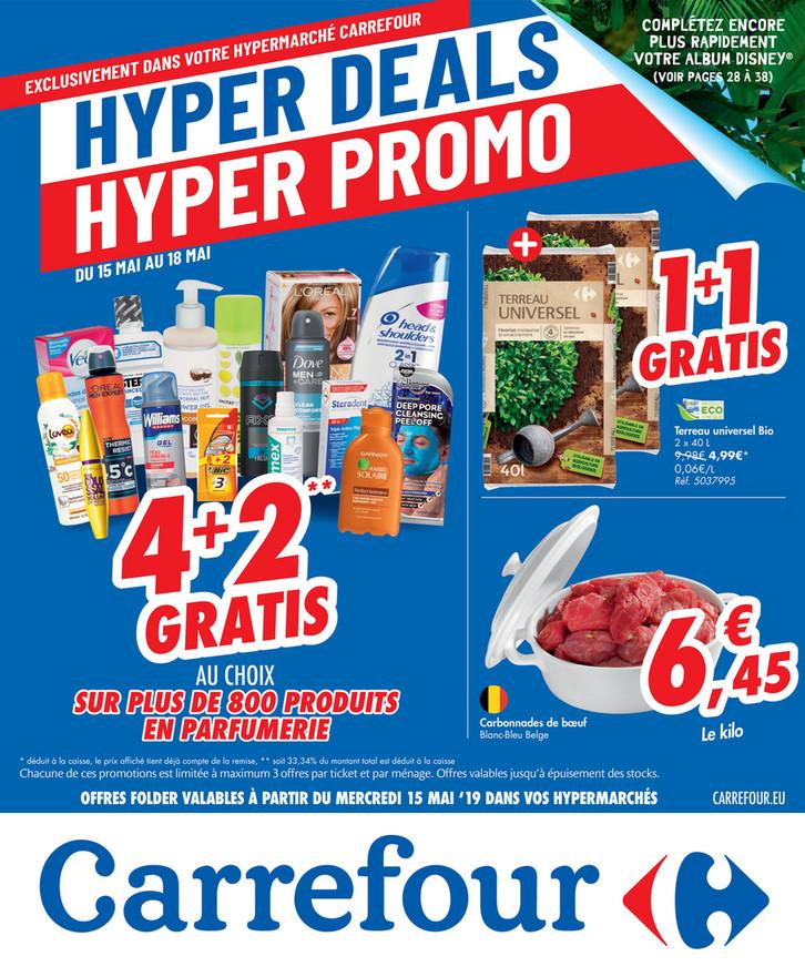 Folder Carrefour du 15/05/2019 au 20/05/2019 - Promotions de la semaine 20