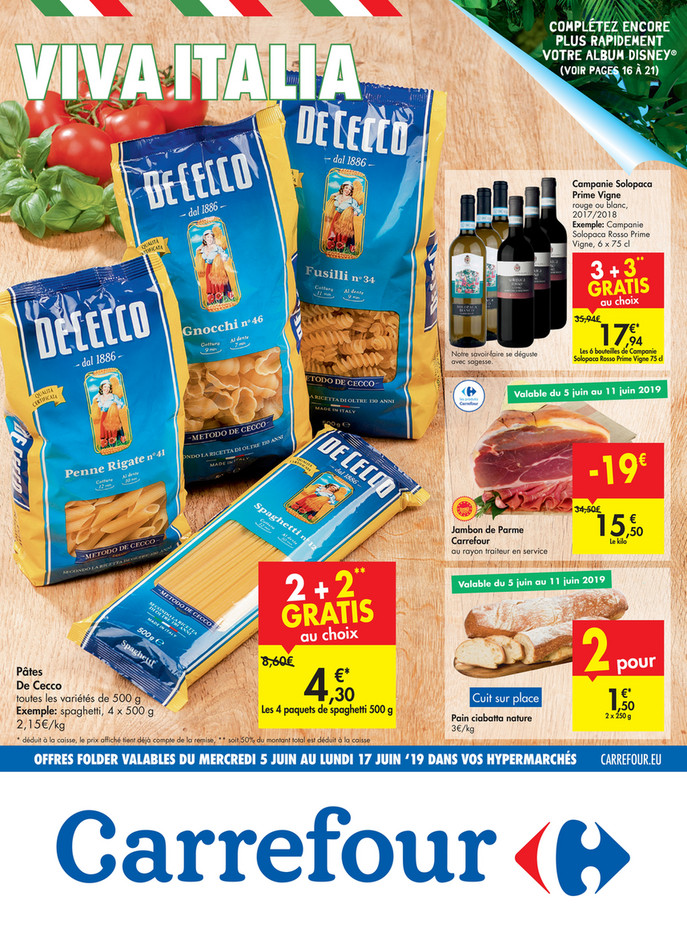 Folder Carrefour du 05/06/2019 au 17/06/2019 - Promotions de la semaine 23b