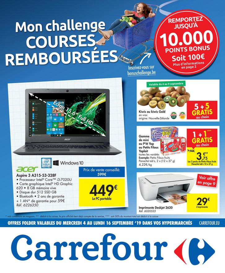 Folder Carrefour du 04/09/2019 au 16/09/2019 - Promotions de la semaine 36