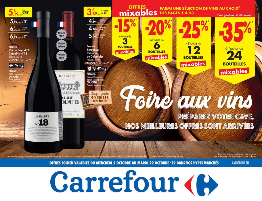 Folder Carrefour du 02/10/2019 au 22/10/2019 - Promotions de la semaine 40b