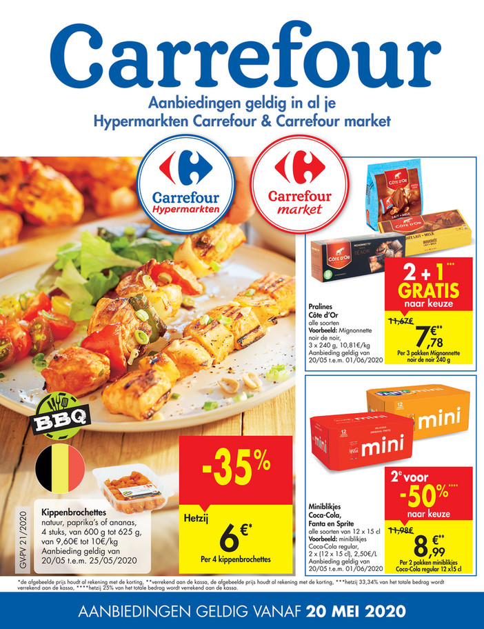 Carrefour folder van 20/05/2020 tot 25/05/2020 - Weekpromoties 21