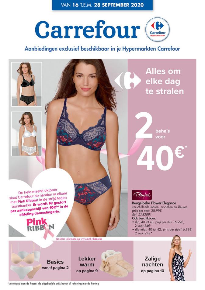 Carrefour folder van 16/09/2020 tot 28/09/2020 - Weekpromoties 38 lingerie