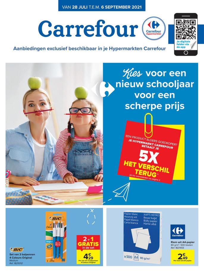 Carrefour folder van 28/07/2021 tot 06/09/2021 - Maandpromoties juli-aug-sept
