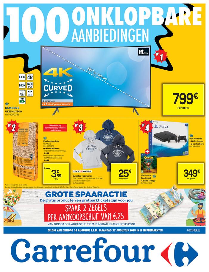 Carrefour folder van 14/08/2018 tot 27/08/2018 - Onklopbare prijzen