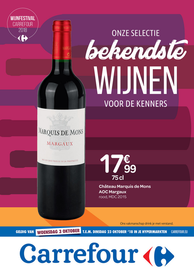 Carrefour folder van 03/10/2018 tot 23/10/2018 - Carrefour nl de bekendste wijnen.pdf