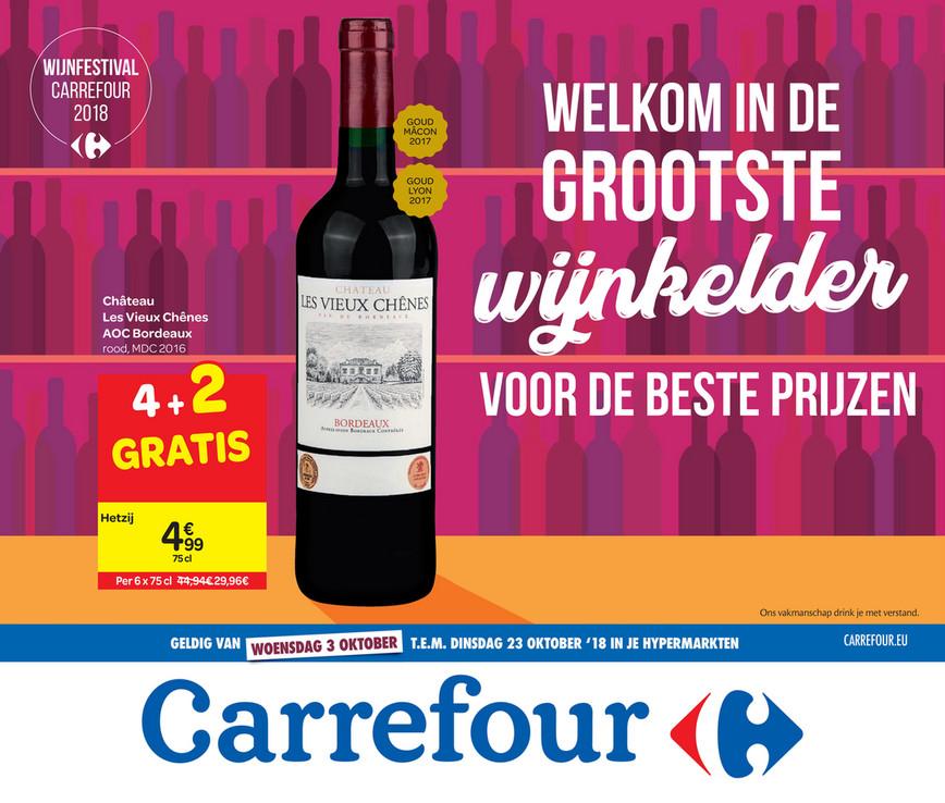 Carrefour folder van 26/09/2018 tot 23/10/2018 - Wijnkelder