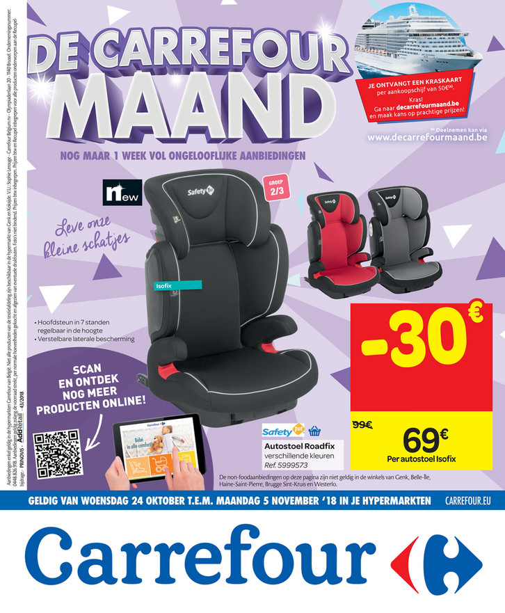 Carrefour folder van 24/10/2018 tot 05/11/2018 - Weekpromoties 43