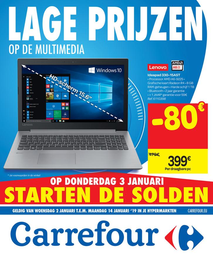 Carrefour folder van 02/01/2019 tot 14/01/2019 - weekpromoties 1