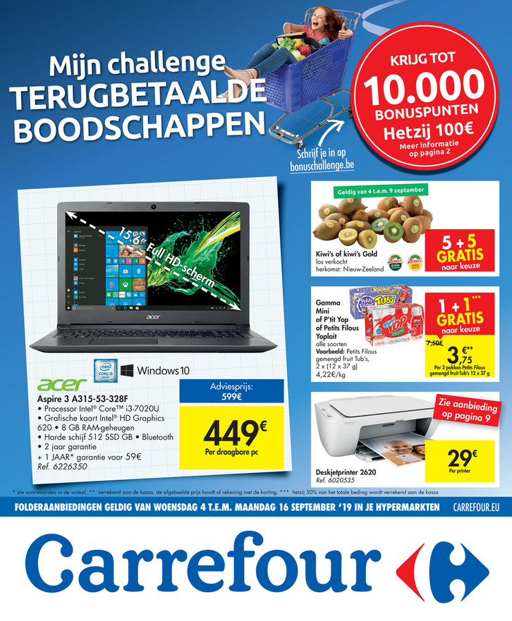 Carrefour folder van 04/09/2019 tot 16/09/2019 - Weekpromoties 36
